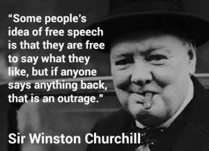 Idea of Free Speech - Winston Churchill